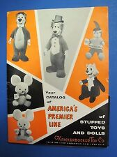Knickerbocker Stuffed Toy Doll Catalog 1950's Folder Yogi Bear Huckleberry Hound