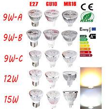 9W 12W 15W MR16 GU10 E27 LED Spot Light Lamp Bulbs Globes Ceiling Downlight