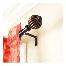 "Better Homes & Garden 48""-84"" Oil-Rubbed Bronze Fluted Ball Curtain Rod 5/8"" Rod"