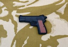 UKSF Browning Hi-Power Pistol 3D PVC Morale Patch SAS SBS Bravo Two Zero