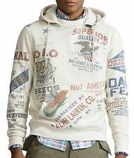 """POLO Ralph Lauren """"FLEECE SARANAC"""" Graphic Hoodie Men's Large"""