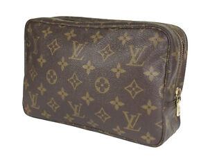 LOUIS VUITTON TROUSSE TOILETTE 23 Monogram Canvas Cosmetic Pouch Bag LP4878