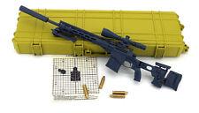 BattleField 1:6 US Mk21 MOD 0 Remington MSR 1/6 gun Sniper Rifle 12' Figure GRAY
