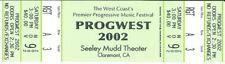 PROGWEST 2002 - UNUSED Concert Ticket, VERY RARE!! Progressive Rock History!