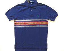 New Ralph Lauren Polo Navy Blue Indian Print 100% Cotton Summer Shirt sz L