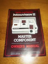 Mattel Intellivision II Console Instruction Manual ONLY