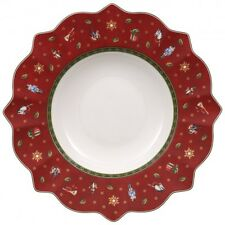 Villeroy & and Boch Christmas TOY'S DELIGHT red rimmed bowl 26.5cm NEW NWOL