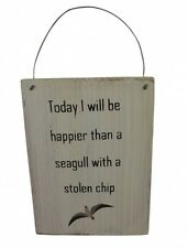 Shoeless Joe Seagull Plaque - Humorous Quirky Sign - Bathroom Nautical Theme