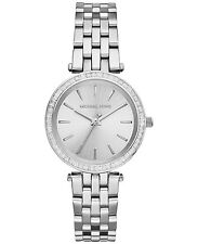 NEW MICHAEL KORS MK3364 LADIES SILVER MINI DARCI WATCH - 2 YEAR WARRANTY