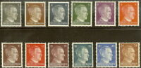 Stamp Germany Mi 781-92 Sc 506-17 1941 WW2 Fascism War Hitler selection MNH