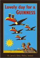 A3/A4 Size  - LOVELY DAY FOR GUINNESS TOUCAN NOSTALGIC  - VINTAGE  POSTER   # 4