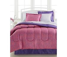 Comforter Bedding Set Ensemble King Size 8 Pc Bed In a Bag Paisley Pink Purple