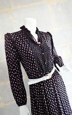 Robe Bohème Vintage Noir et Rose - Black and Pink Vintage Bohemian Dress