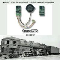 4-8-8-2 Cab-forward steam locomotive SoundGT2.1 DCC decoder for Rivarossi, brass