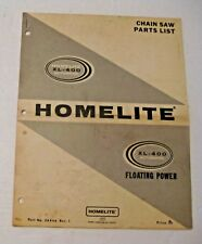 Vintage Homelite Xl-400 Automatic Chain Saw Parts List Manual
