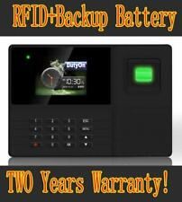BIOMETRIC FINGERPRINT EMPLOYEE ATTENDANCE TIME CLOCK RECHARGEABLE BATTERY