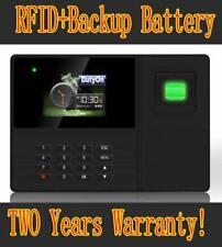 Biometric Fingerprint Employee Attendance Time Clock Rechargeable Battery