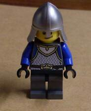 Lego Ritter Figur King's Knight blau silber grau schmunzelnd Burg Castle Neu