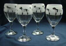 More details for border terrier dog gift wine glasses
