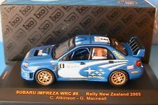 SUBARU IMPREZA WRC #6 RALLY NEW ZEALAND 2005 ATKINSON 1/43 IXO RAM187 MCNEAL