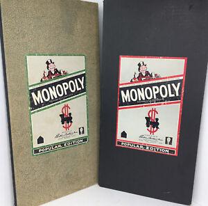 1954 Vintage Popular Edition Monopoly Boards Parker Bros. (Green, Black)