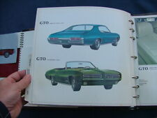 1969 Pontiac color and trim selector dealer album, nice!  GTO, Firebird sales