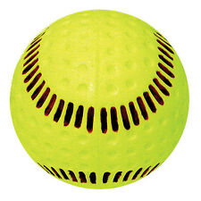 "Baden Seamed Machine 12"" Yellow Softball - 1 Dozen"