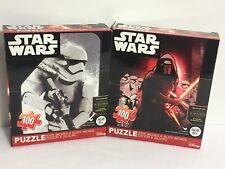 Disney Star Wars The Force Awakens TWO Puzzles 100 piece Age 6+