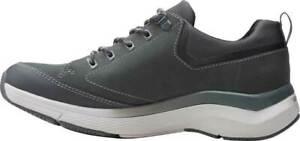 Clarks Wave 2.0 Vibe Dark Grey Men's Leather Athletic Sneakers 51636