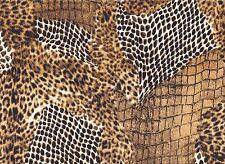 Luxurious Skin Print Stretch Velour Fabric