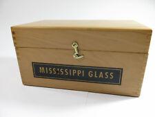 "Vintage Solid Maple ""Mississippi Glass"" Sample Storage Box."