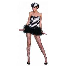 Ladies Prisoner Girls Costume Adults Women Convict Fancy Dress Hen Night Outfit