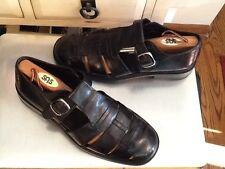 Paolo De Marco men's Fisherman dress sandals black leather -11M -hand made Spain