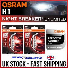 Osram Night Breaker ilimitado 2x Bombillas De Los Faros H1 de negocios aprobado por OSRAM