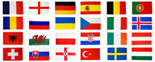 More details for euro 2016 flags set large 3 x 2 ft - full pack all 24 countries european uefa