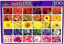 Colorful Flower Collage - 300 Pieces Jigsaw Puzzle by Puzzlebug - Brand New