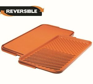 Gotham Steel Reversible Indoor XLarge Grill and Griddle Pan Perfect for Stovetop