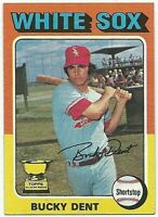 Bucky Dent 1975 Topps Baseball #299 Chicago White Sox Card