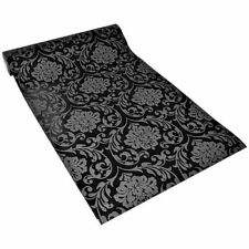 Lucido Carta Da Parati PS 13075-20 retrò Barocco Design Ornamento nero antracite