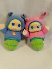 Playskool 2 Blue and Pink Lullaby Gloworms Musical Night Light Glow Worm 2005