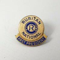 Vintage - Goldtone - Puritan National Past President - Pinback Pin Screw Back