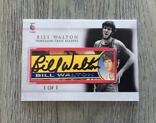 BILL WALTON PORTLAND TRAILBLAZERS UCLA CELTICS SIGNED CUSTOM CUT AUTO CARD #1/1