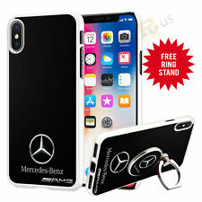 Mercedes Car Phone Case Cover & Finger Ring Stand For Top Mobiles 041-4