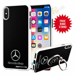 Mercedes Car Phone Case Cover & Finger Ring Stand For Apple Samsung Huawei 041-4