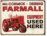 farmall users here Metal tin sign tractor farm home garage Wall decor new
