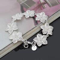 Mode Armbänder Silber Schmuck Sterling Silber Rose Blume Armbänder Geschenk