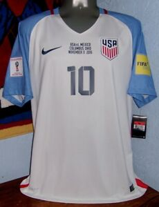 NIKE USA US SOCCER HOME WC2018 QUALIFIERS PULISIC ORIGINAL SOCCER SHIRT