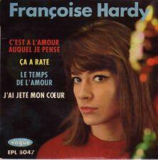 FRANCOISE HARDY C'EST A L'AMOUR AUQUEL JE PENSE FRENCH ORIG EP ROGER SAMYN