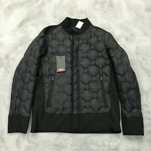 New Tumi Geo Quilted Down Jacket Mens Size Small Black F197165
