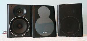 SHARP Bookshelf/Microsystem Speakers - Model: CP-DH259N - 80Watts